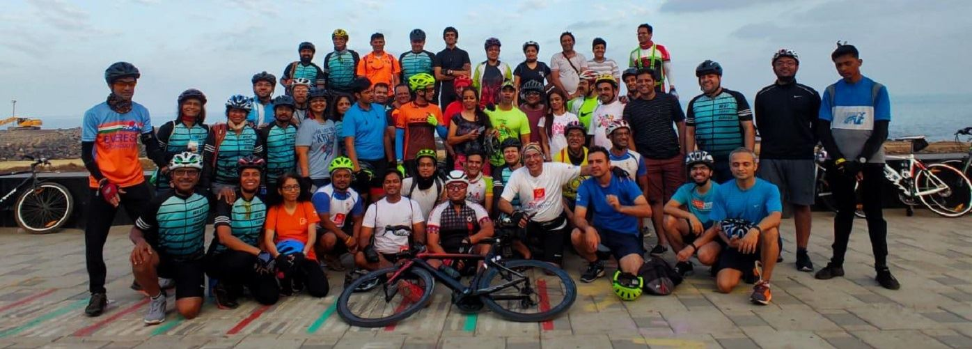 ABBF's Mumbai Tandem Cycling Chapter - Holi ride to Worli Sea Face