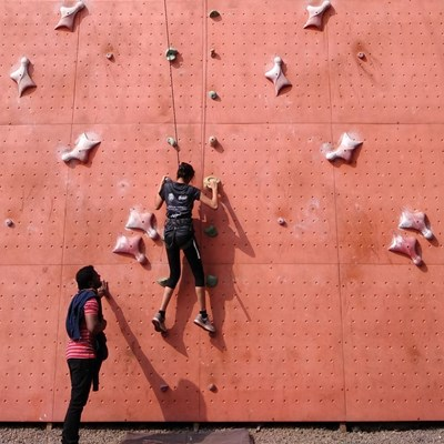 Wall Climbing with Kaveri Gifted Education Centre Students - 2018