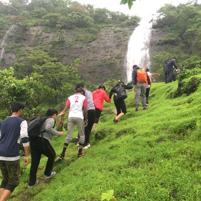 Waterfall Rappelling at Dudhiware with Capco